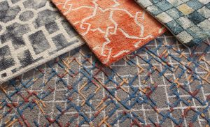 Choose an area rug's colour and pattern