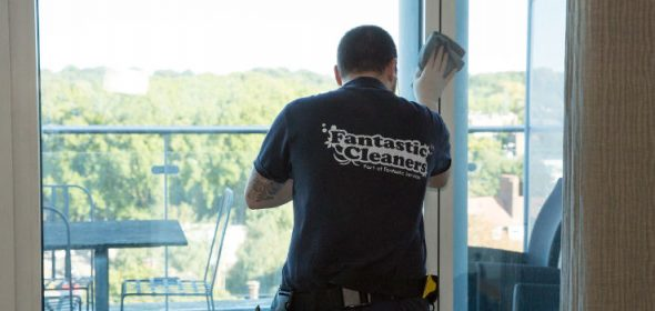window cleaning pvc frames by Fantastic Cleaners